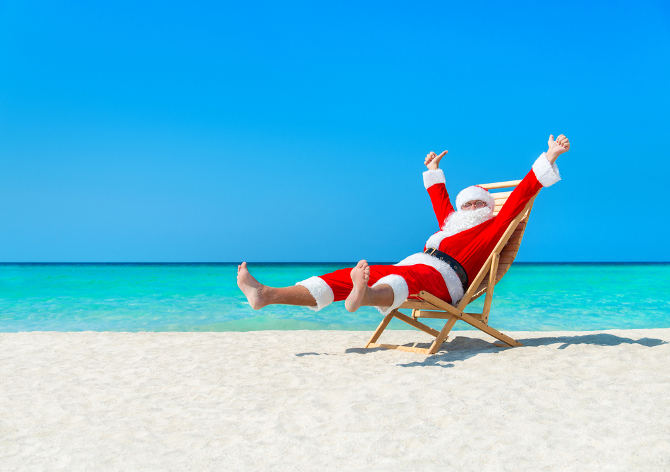 Santa On The Beach River Communications